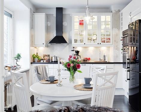 Дизайн кухни фото с круглым столом