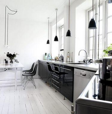 светильники подвесы над рабочей зоной кухни