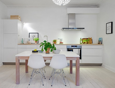 Кухня без верхних шкафов дизайн фото