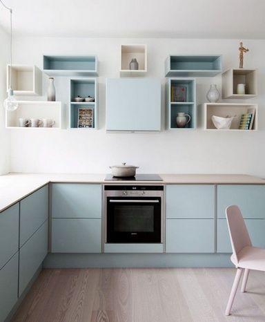 полочки на кухне вместо подвесных шкафов