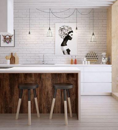 декор кухни без верхних шкафчиков