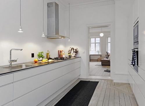 кухня без верхних шкафов фото