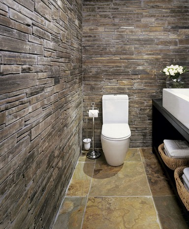 ванная в стиле рустик