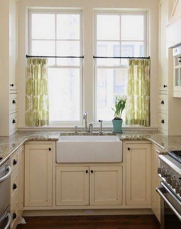 короткие занавески на кухне