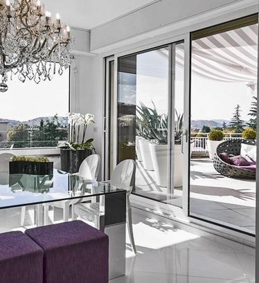 раздвижные стеклянные двери на террасу
