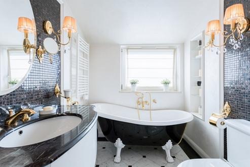 гламурная ванная в стиле ар-деко