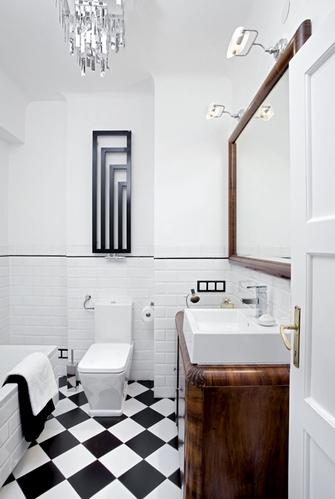 современная ванная в стиле арт-деко