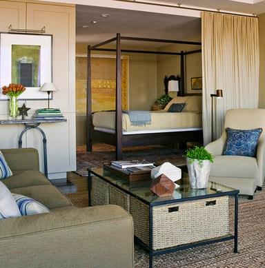 штора для разделения спальни и гостиной