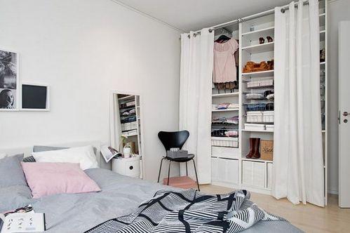 шкаф с занавеской вместо двери