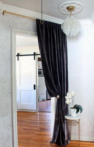 штора вместо двери