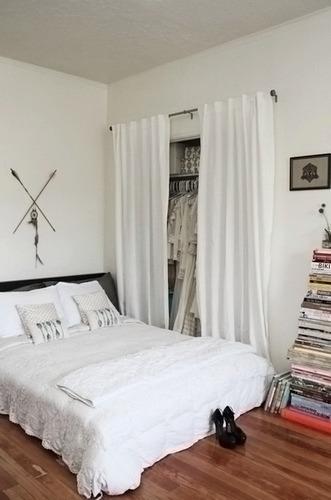 штора вместо двери для гардеробной