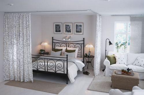 штора между спальней и гостиной