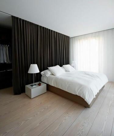 штора для разделения спальни и гардеробной