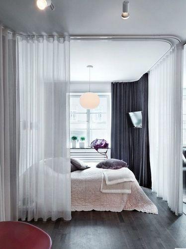 шторы для отделения спальни от гостиной