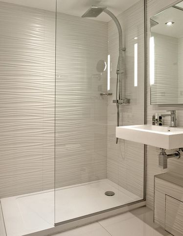 Плитка волнами для ванной
