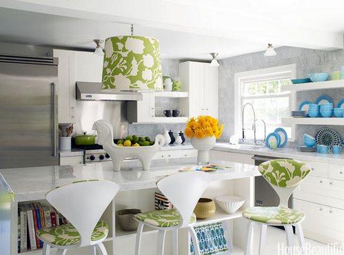 зеленые акценты в кухне