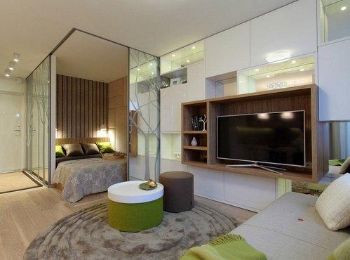 зеленые акценты в квартире