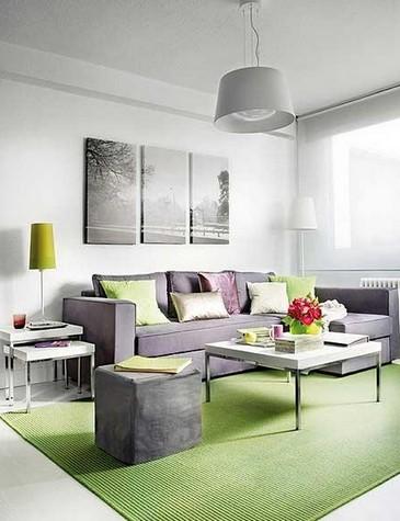 зеленый декор гостиной