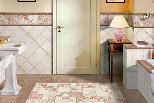коврик из плитки в ванной