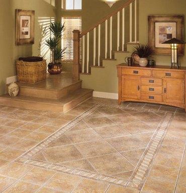 коврик из плитки на полу