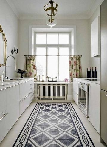 коврик из плитки в кухне