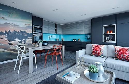 сочетание разной мебели в интерьере