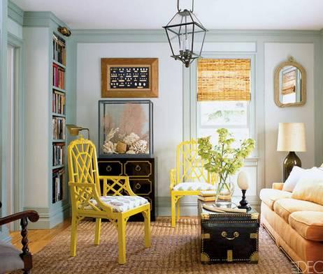 мебель разного цвета в интерьере