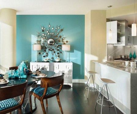 мебель разного цвета в одном интерьере