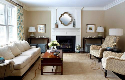 гостиная в стиле американской классики