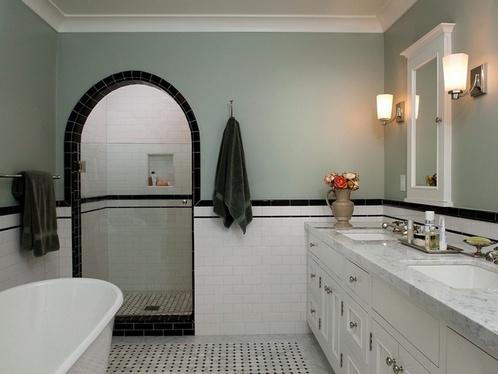 ванная в стиле американской классики