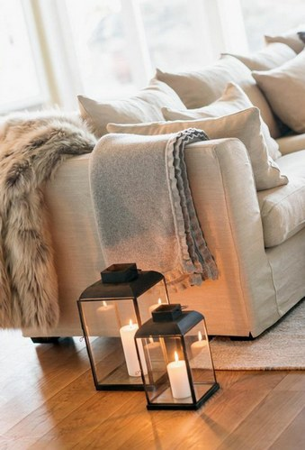 зимний декор интерьера