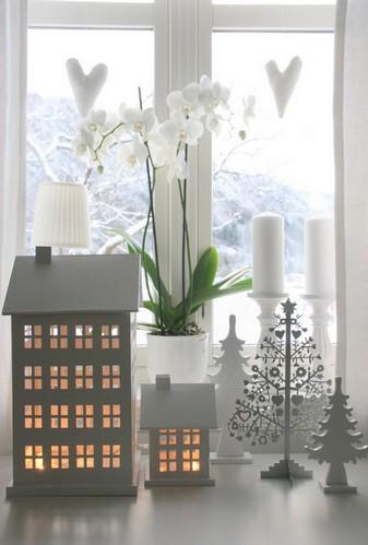 зимнее украшение дома