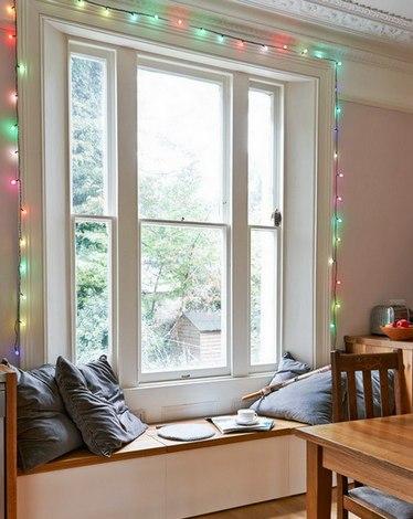 как украсить квартиру гирляндой