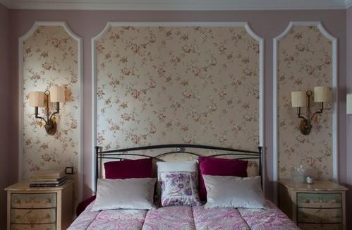 сиреневый цвет в спальне прованс