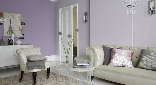 лавандовый цвет в гостиной
