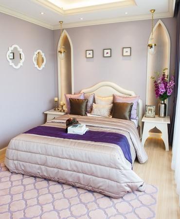 лавандовый цвет в спальне