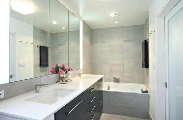 мебель для серой ванной комнаты