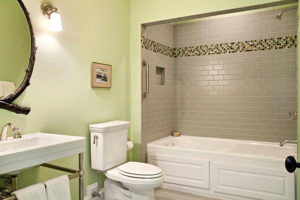с чем сочетать серый цвет в ванной