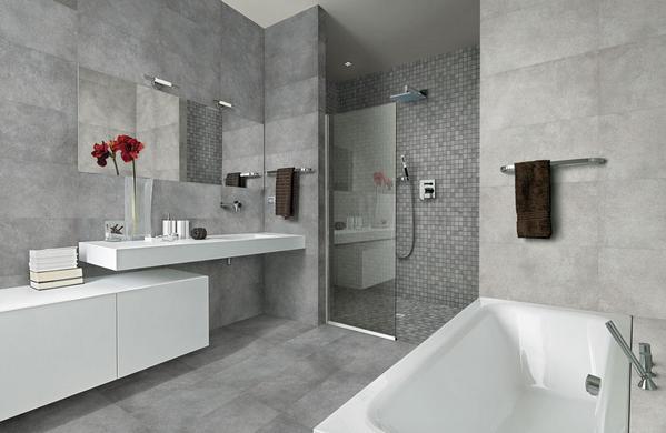 Дизайн ванной в стиле лофт Домфронт