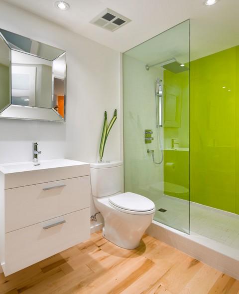 цвет лайм в ванной