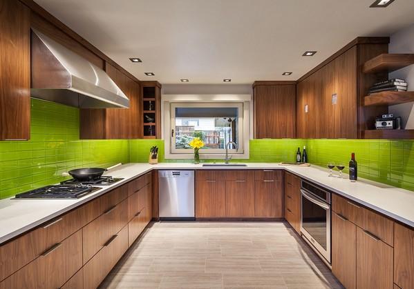цвет лайм на кухне