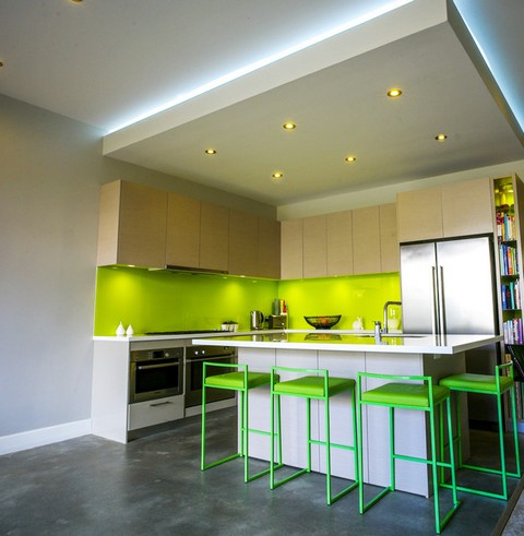кухонный фартук цвета лайм
