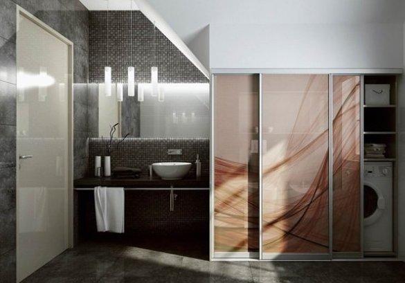 хозяйственный шкаф в ванной