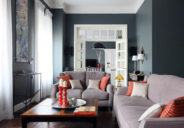 гостиная с двумя диванчиками