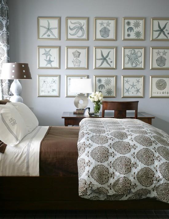 декор морской спальни