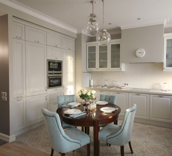 как подобрать цвет стола на кухню