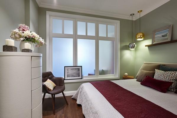 межкомнатное окно в спальне