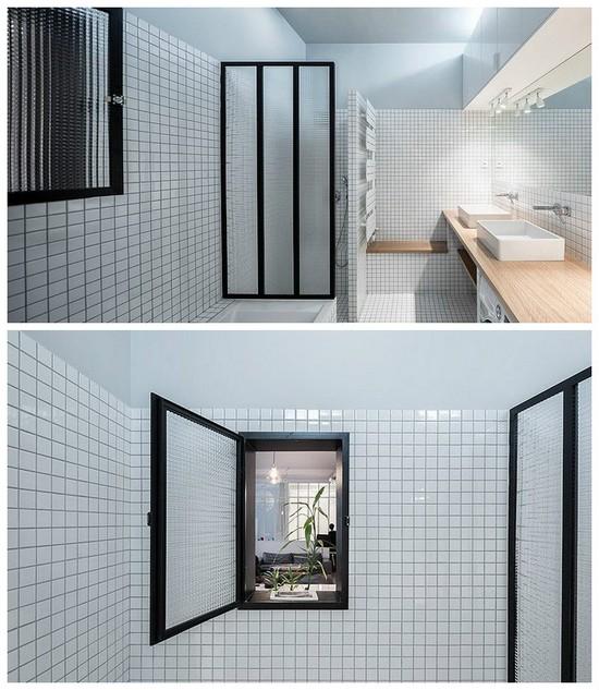 внутреннее окно в ванной