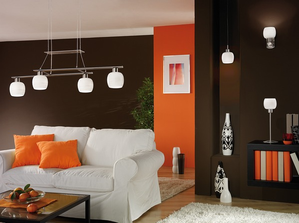 коричневый с оранжевым