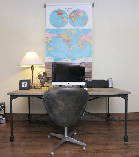 Чем украсить стену над рабочим столом?